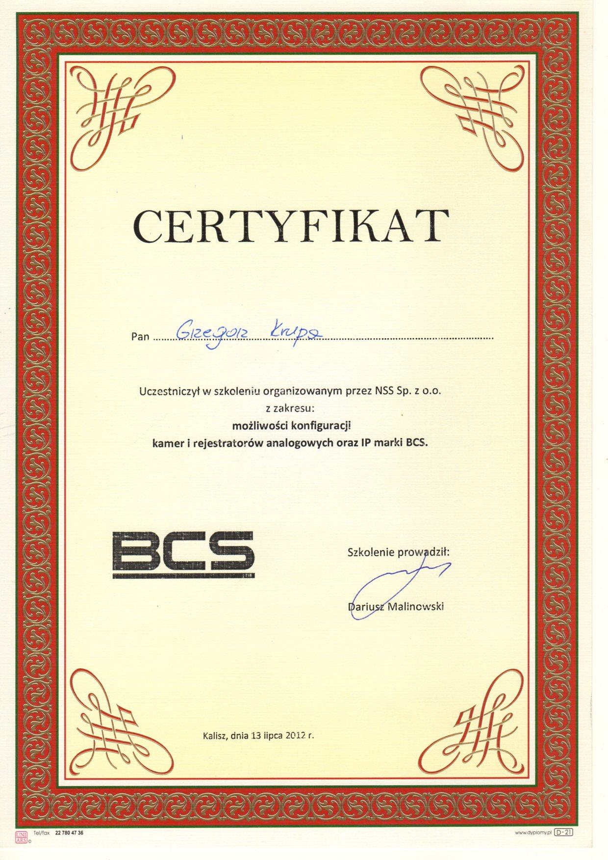 Kamery i rejestratory BCS