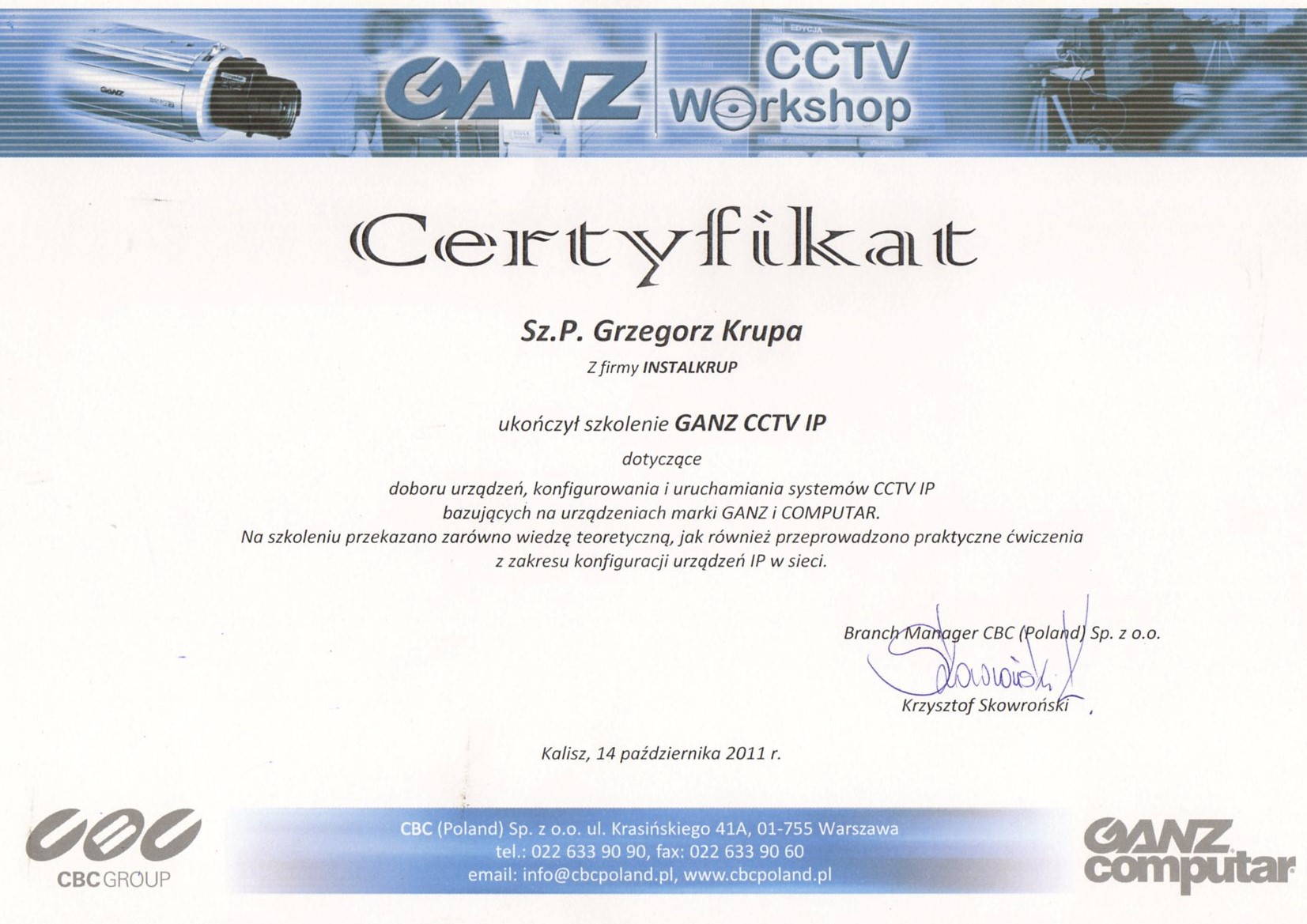 Monitoring GANZ CCTV IP